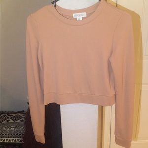 long sleeve salmon sweater